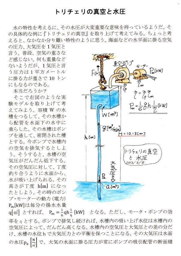 トリチェリの真空(1)