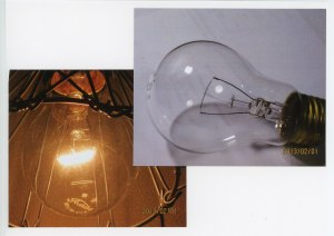 二重コイル電球と点灯