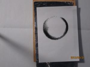 アルミ箔の磁場