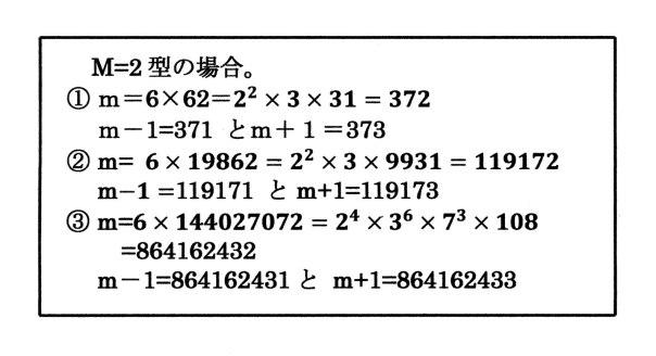 M=2型の例