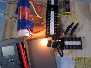 ランプ負荷付紙筒コイル