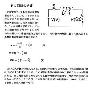 R-L回路の過渡